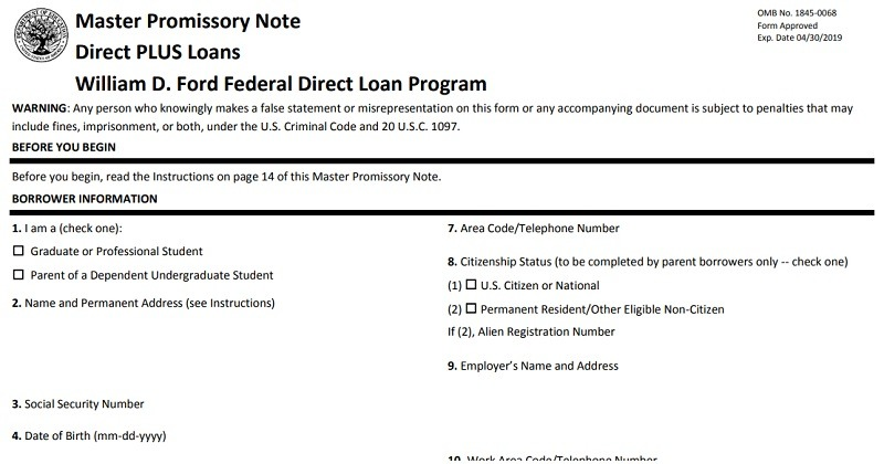 what is a master promissory note